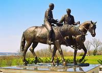 Statue Of Joseph And Hyrum Smith In Nauvoo, Illino