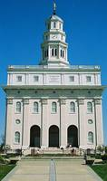 Front Shot Of Mormon Temple At Nauvoo, Illinois, U