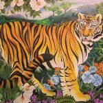 """""""Tigress in the Teagarden"""" by JacquelynBraxton"""