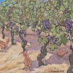 """""""Vineyard Chickens"""" by cellarpaintings"""
