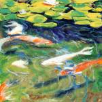 """Koi in the Gardens by RD Riccoboni™"" by BeaconArtWorksCorporation"