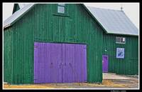 Green and purple barn, Prince Edward County