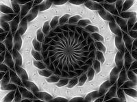 Gray Kaleidoscope Art 13