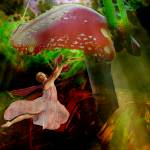 """Dancing under a Mushroom"" by eweniquecreations"
