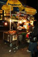 Hot Dog & Pretzel Cart, NYC