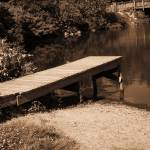 """Fishing Dock at the River Bend Farm"" by wendymarie71"