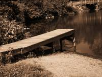 Fishing Dock at the River Bend Farm