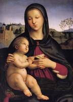 Madonna with Child and a Book