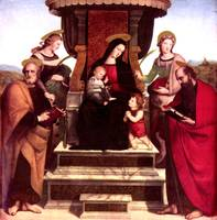 Maria on Throne with Christ Child
