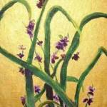 """Purple violets and reeds"" by gfrankovitch"