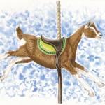 """Toggenburg Carousel Goat"" by tnpcraft"
