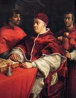 Pope Leo X with Cardinals