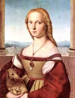 Portrait of a Young Woman with Unicorn