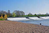 Weir on the River Dove near Tutbury  (16454-RDA)