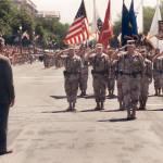 """""""President Bush greets H. Norman Schwarzkopf, 1980"""" by worldwidearchive"""