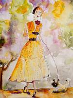 High Society Vintage Fashion Lady avec Chien