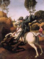 Saint George Fighting with the Dragon
