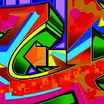 """Graffiti Letter U"" by Bluemos"