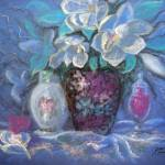 """Three Vases in Blues"" by cynthia"
