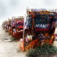cadillac ranch route 66 Art Prints & Posters by brian gregory