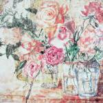 """Roses in Vases On Windowsill"" by cynthia"