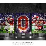 """Ohio Stadium Grand Rotunda Stained Glass"" by ssanders79"