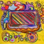 """Colorful Abstract in Crayon"" by Lenora"