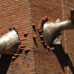 """Fish Caught In Building"" by venetiakelley"