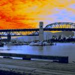 """Vancouver - Burrard Bridge Contemporary"" by Sari_McNamee"