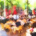 """cafe watercolor_Painting"" by jpgilmore"