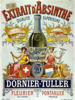 Absinthe Dornier-Tuller Advertising Carton