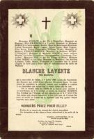 Blanche Laverte Mock Mourning Card