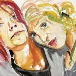 """Kurt Cobain and Courtney Love"" by jobijovanka"