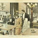 """Le Monde Illustre 1892 - Cafe Scene"" by oxygenee"