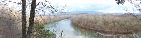 Panoramic of the Nolichucky River
