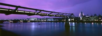 The Millenium Bridge Panorama