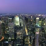 """Midtown Manhattan Aerial Panorama"" by MarcJ"