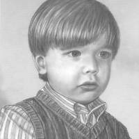 Pencil Portrait Of Young Boy Art Prints & Posters by Mario DiGennaro