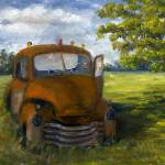 """Old Rusty Truck in Louisiana Landscape"" by Lenora"