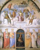 Trinity with Saints