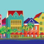 """""""Handelskade St., Willemstad, Curacao"""" by PacoDozierGraphics"""