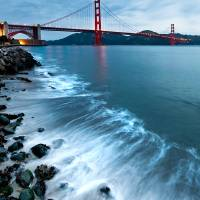 """Golden Gate Bridge from Crissy Fields"" by canbalci"