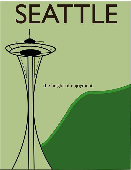 seattle travel poster seattle travel poster