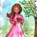 """Girl in pink dress in spring - MagdalenaArt"" by MagdalenaArt"