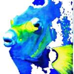 """blue fish 1"" by ArtbySachse"