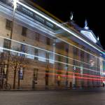"""GPO and cooperative bus at night"" by samuelmonson"