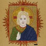 """""Christ Child""  fabric mosaic"" by RemnantWorks"