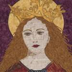 """""Saint Catherine of Alexandria""  fabric mosaic"" by RemnantWorks"