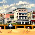 """BOARDWALK IN OCEAN GROVE, NEW JERSEY"" by madelinesstudio"
