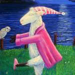 """sheep walking"" by deborahokeeffe"